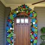 How to Decorate Your Front Door Garland for Christmas